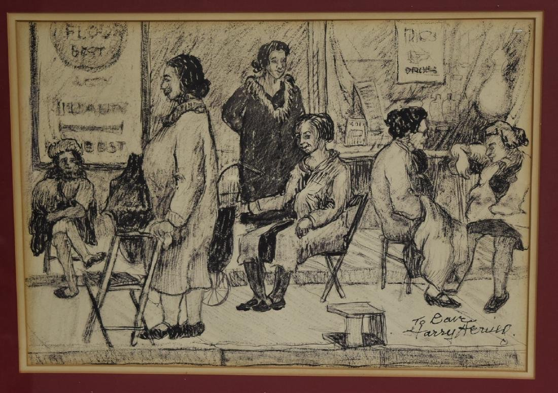Harry Hering; 20thC. Ink Drawing Signed - 3