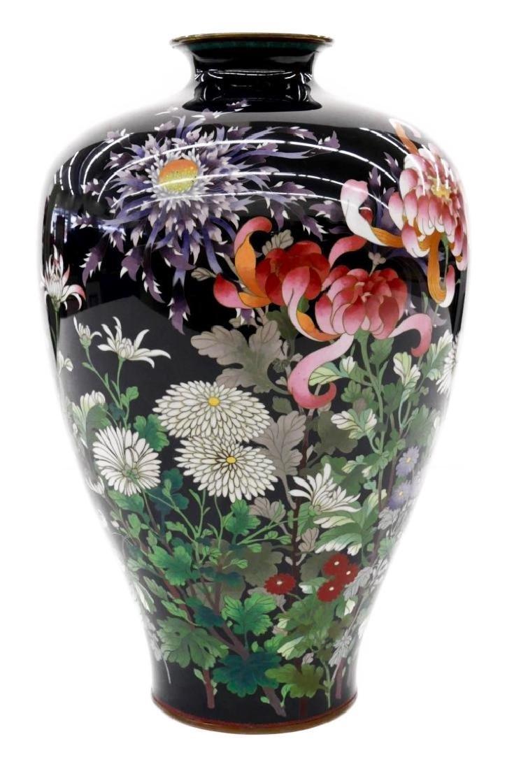 19thC. Japanese  Cloisonne Enameled Vase