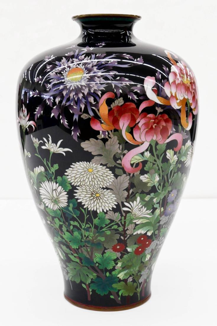 19thC. Japanese  Cloisonne Enameled Vase - 2