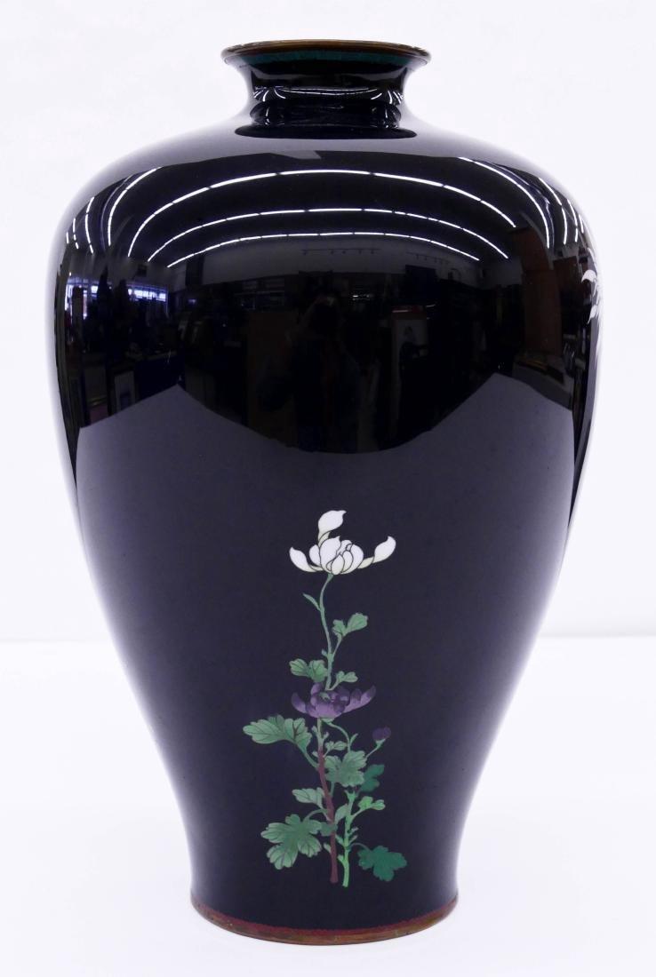 19thC. Japanese  Cloisonne Enameled Vase - 3