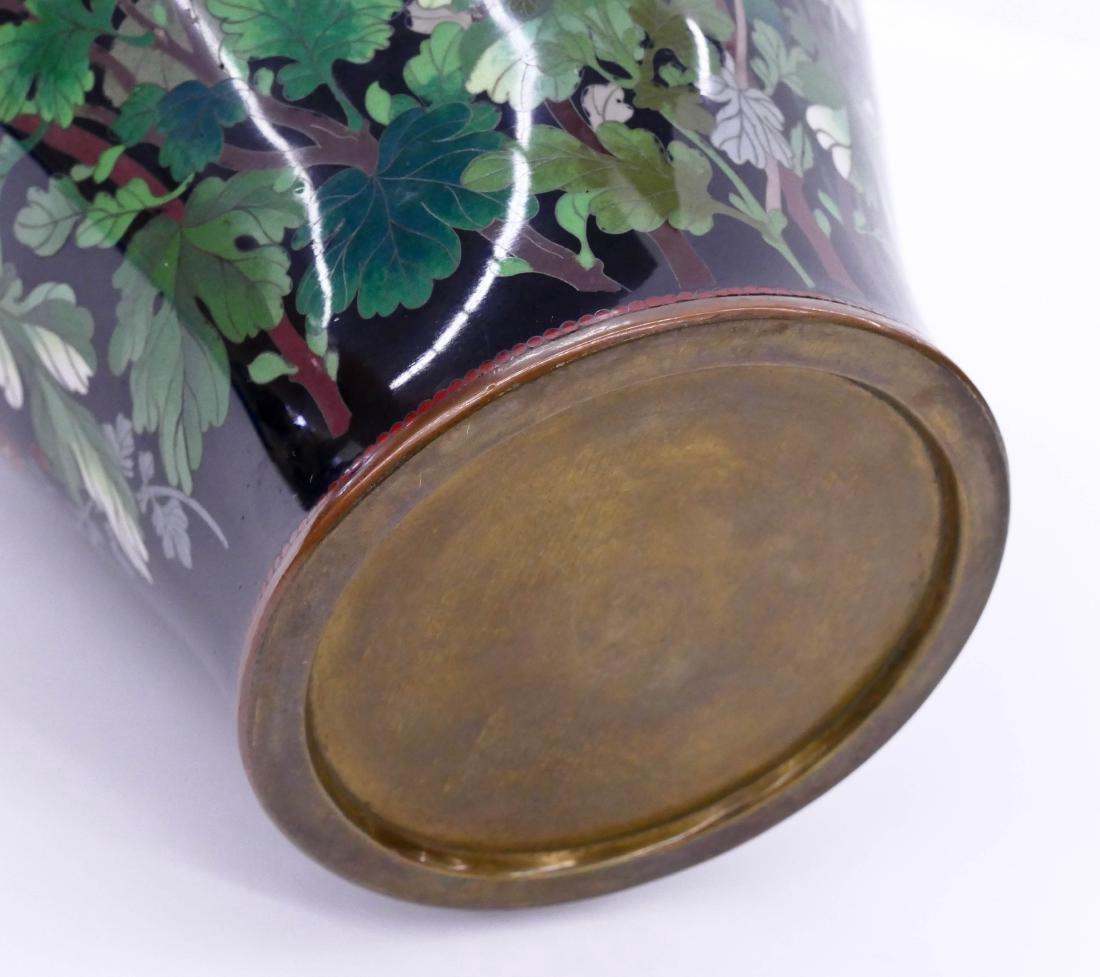 19thC. Japanese  Cloisonne Enameled Vase - 4