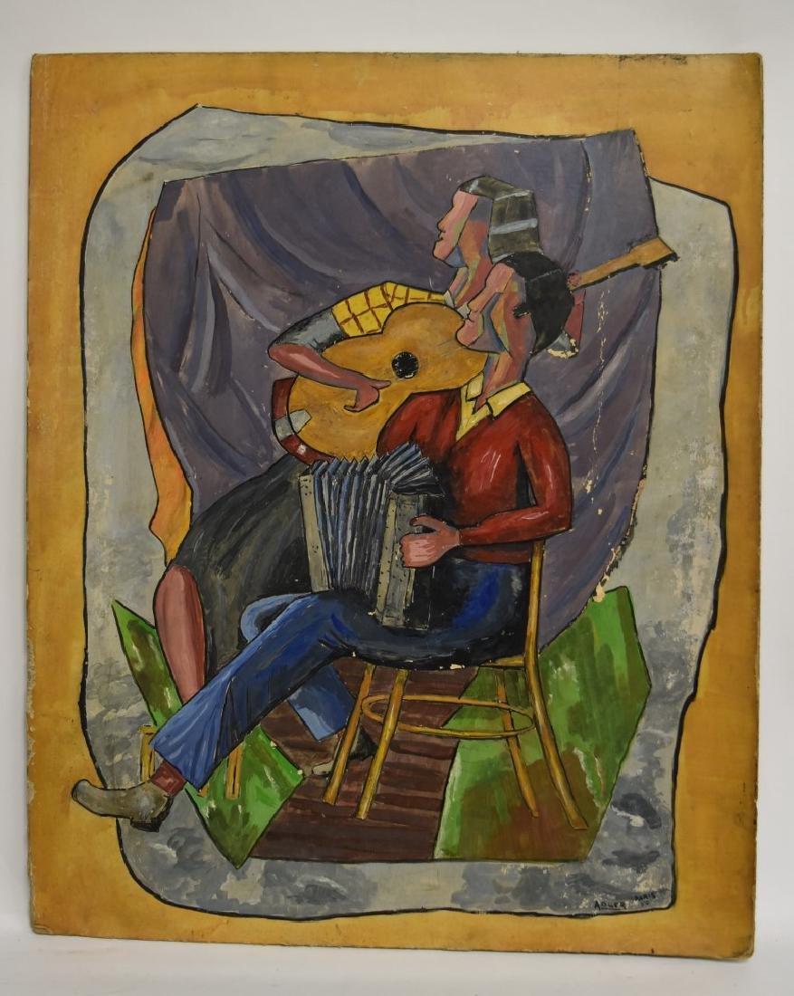 Adler; 20thC. French Gouache - The Musicians Signed - 2