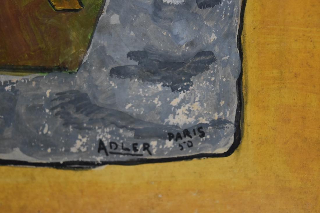 Adler; 20thC. French Gouache - The Musicians Signed - 3