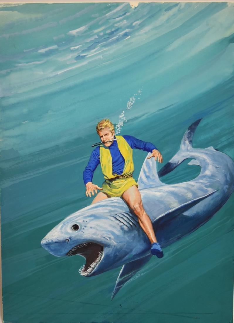 Chuck Liese;20thC. Gouache - Flash Gordon Illustration