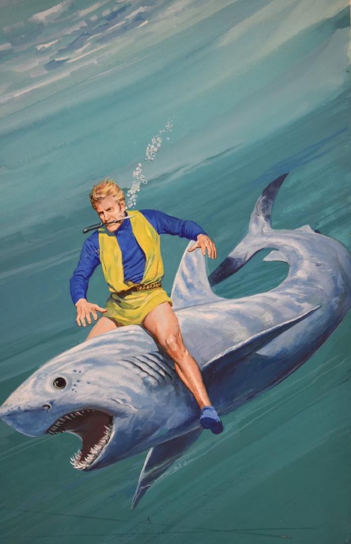 Chuck Liese;20thC. Gouache - Flash Gordon Illustration - 3