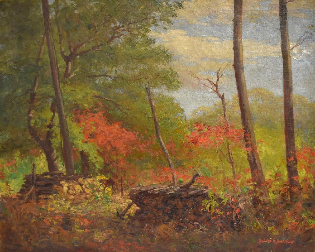 Anders D. Johansen; 20thC. American Oil Landscape