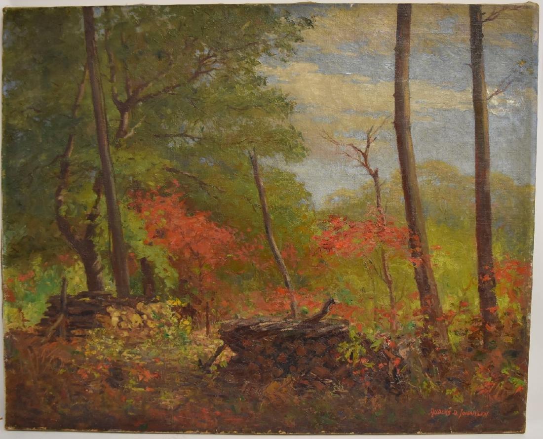 Anders D. Johansen; 20thC. American Oil Landscape - 2