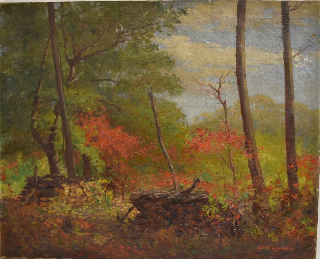 Anders D. Johansen; 20thC. American Oil Landscape - 3