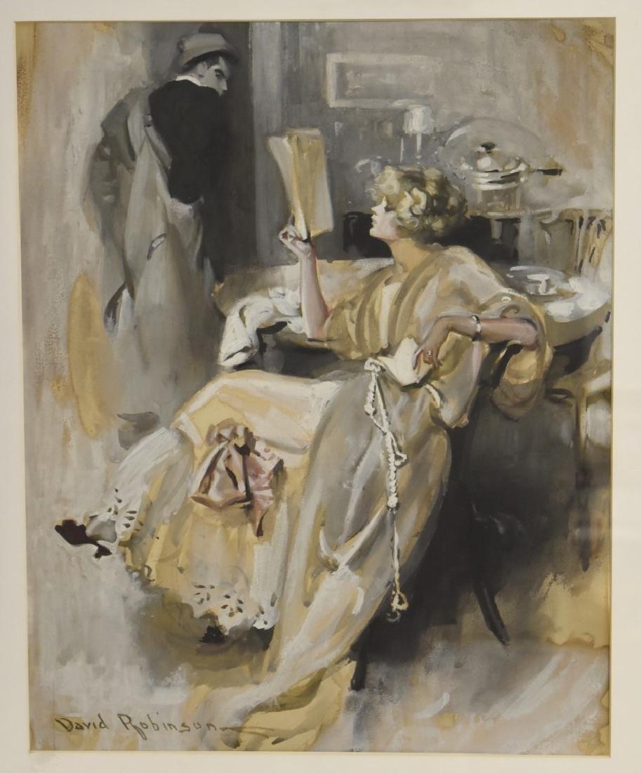 David Robinson; American Gouache Illustration Signed - 2
