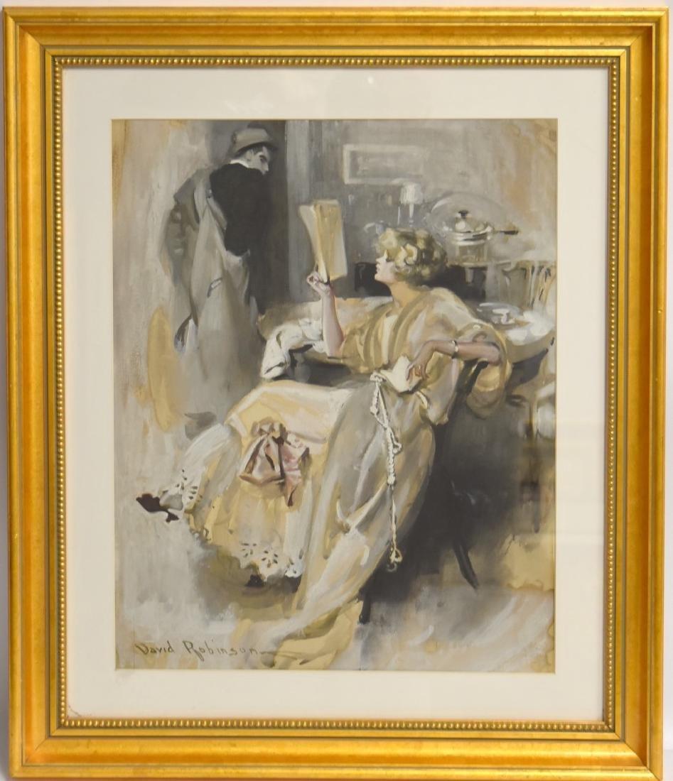 David Robinson; American Gouache Illustration Signed - 3