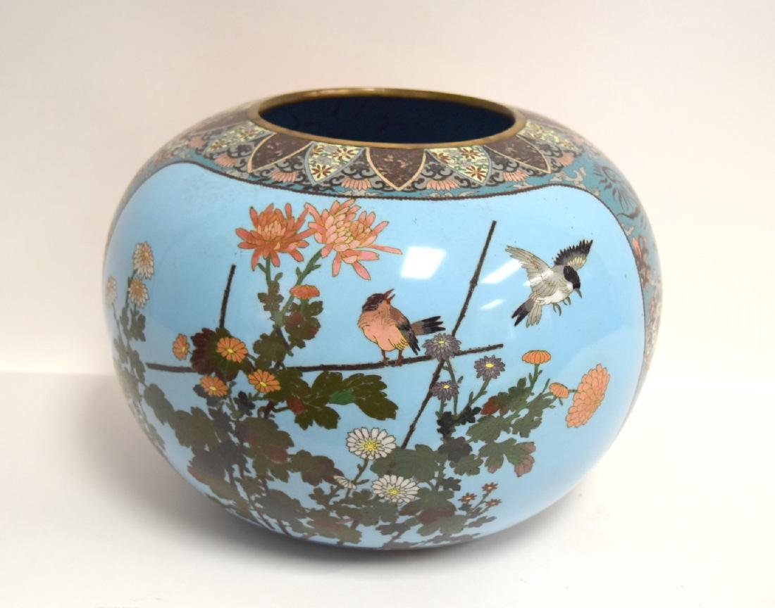 19thC. Japanese Cloisonne Enameled Planter