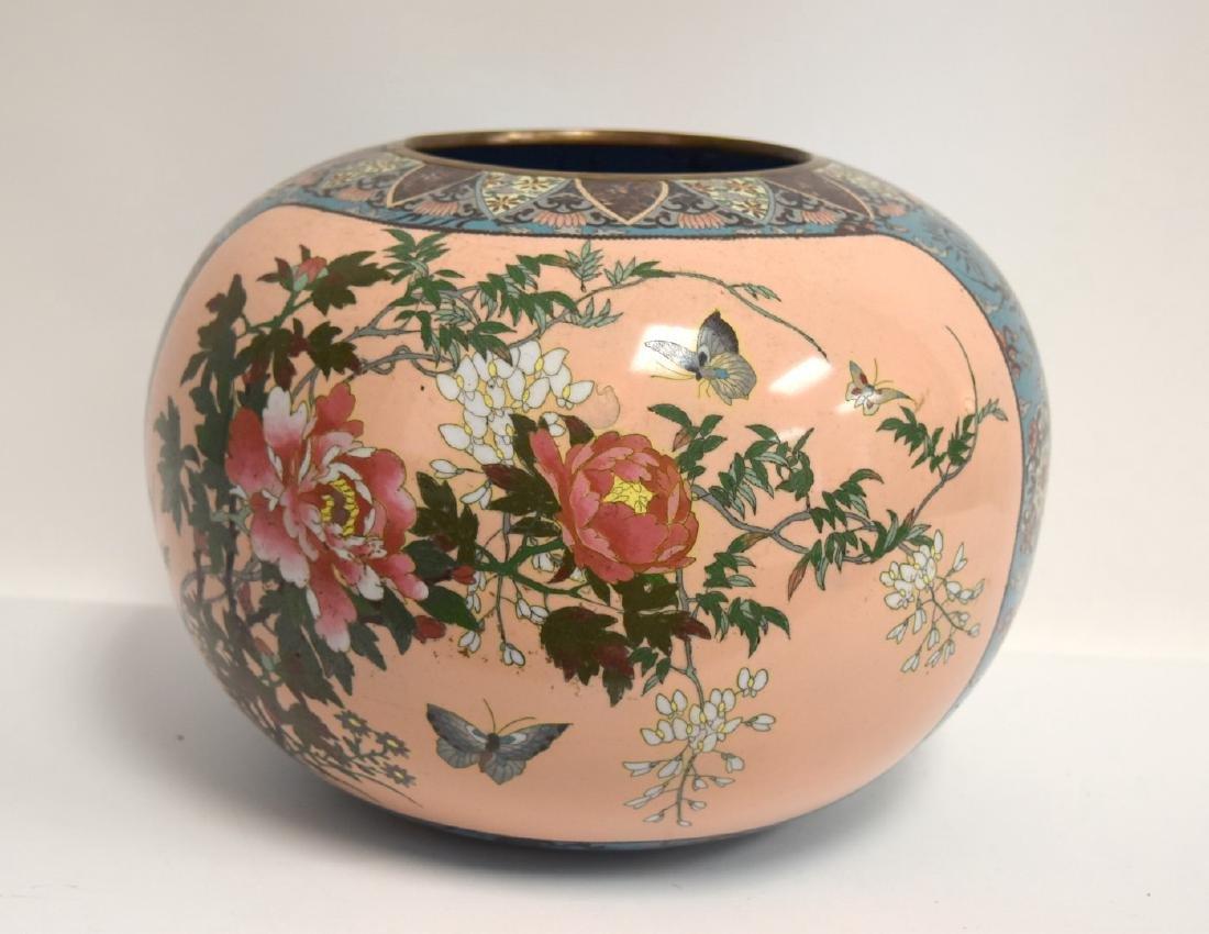 19thC. Japanese Cloisonne Enameled Planter - 3