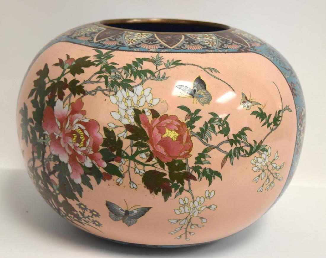 19thC. Japanese Cloisonne Enameled Planter - 4