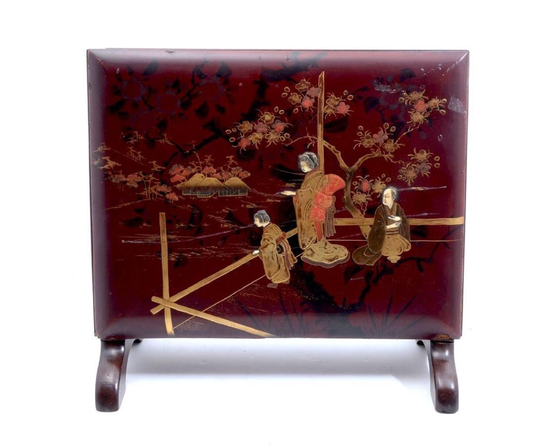 19thC. Japanese Shibiyama Lacquered Box