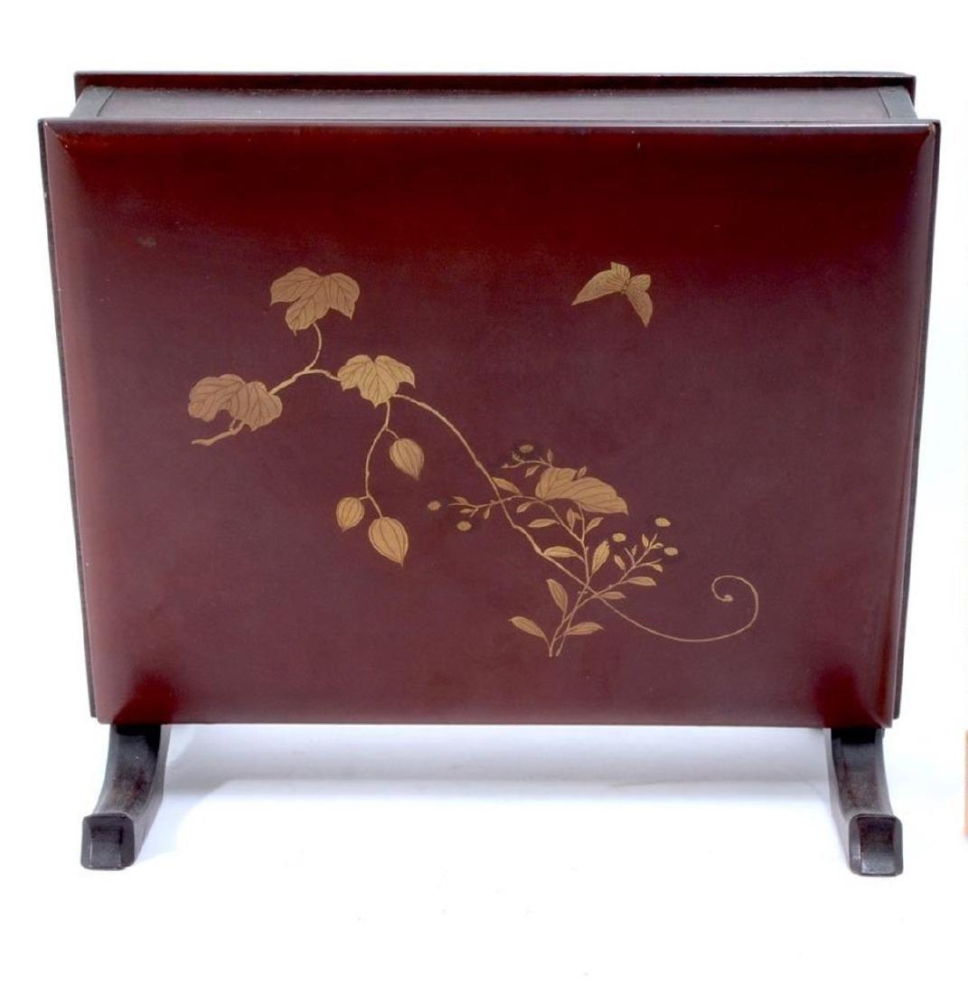 19thC. Japanese Shibiyama Lacquered Box - 3