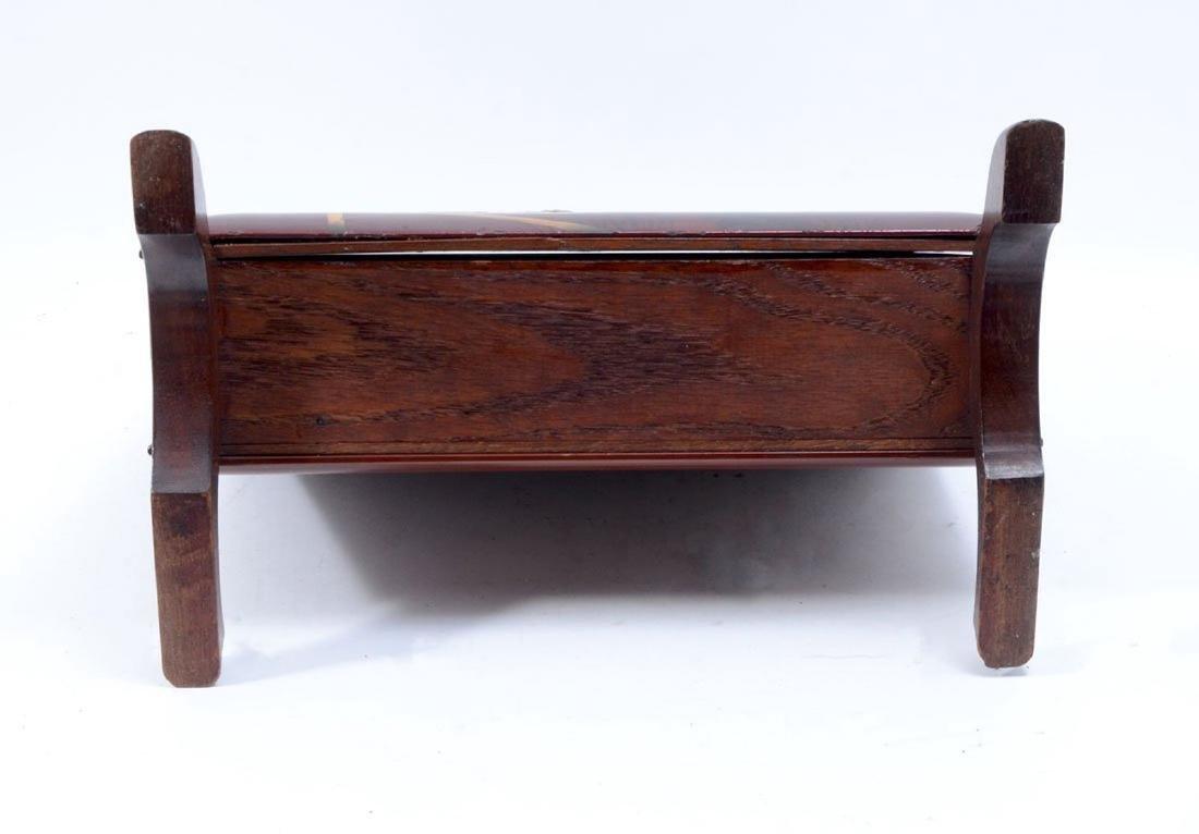 19thC. Japanese Shibiyama Lacquered Box - 5