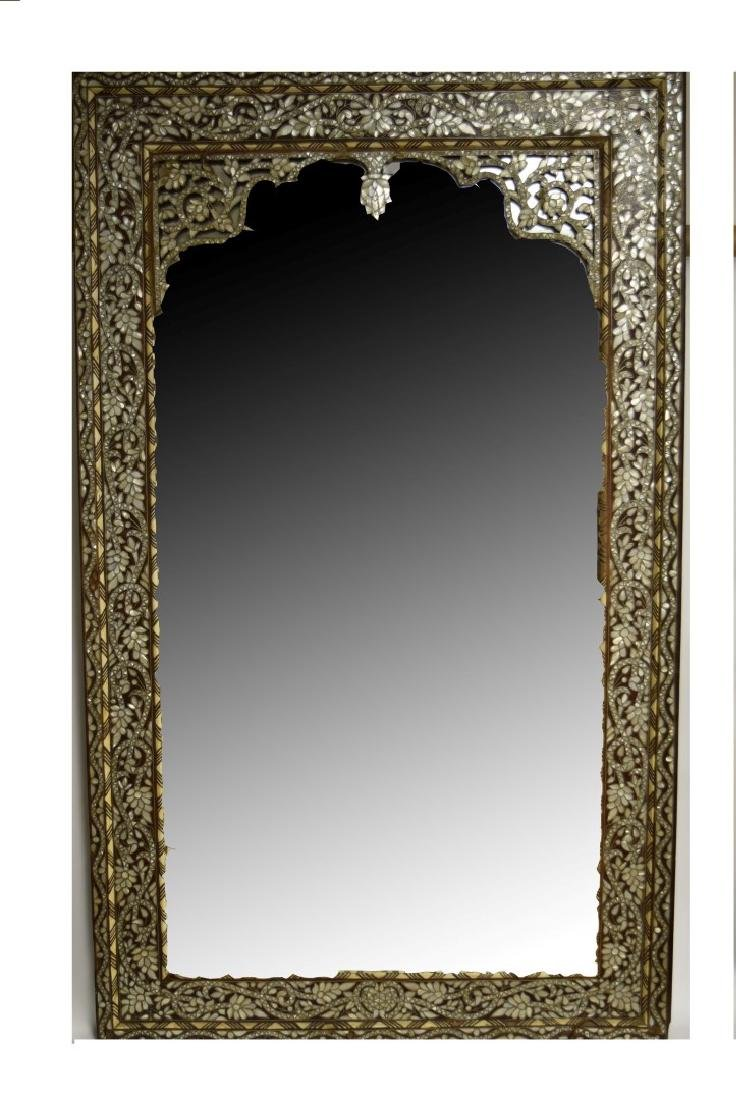 19thC. Turkish Ottoman Inlaid Wood Mirror