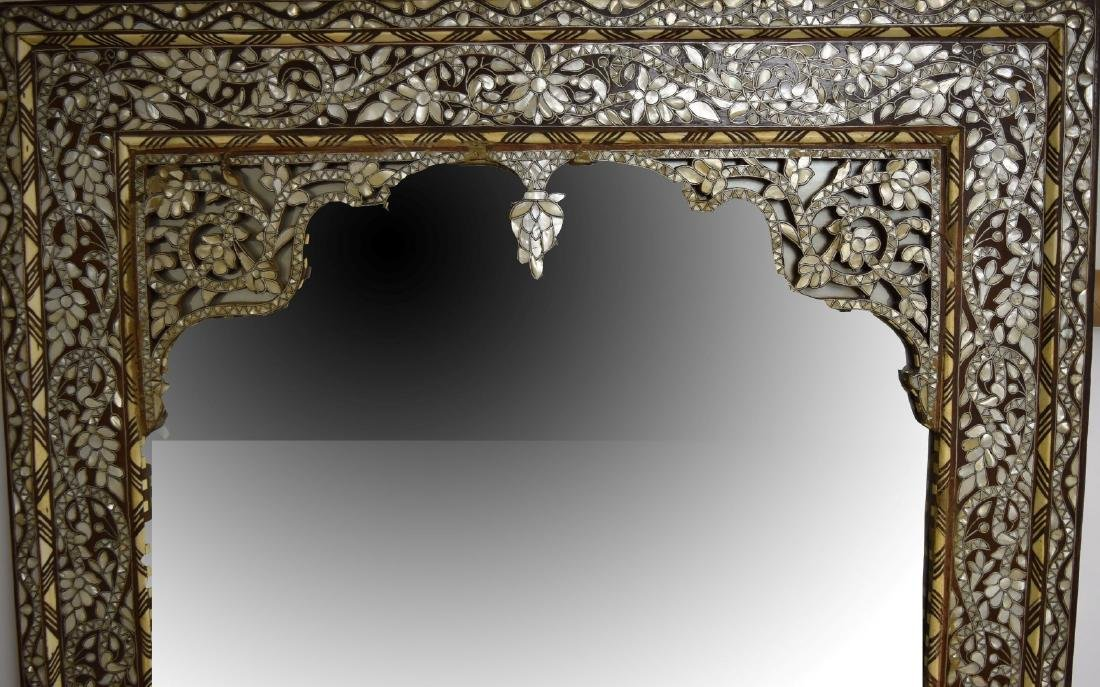 19thC. Turkish Ottoman Inlaid Wood Mirror - 4