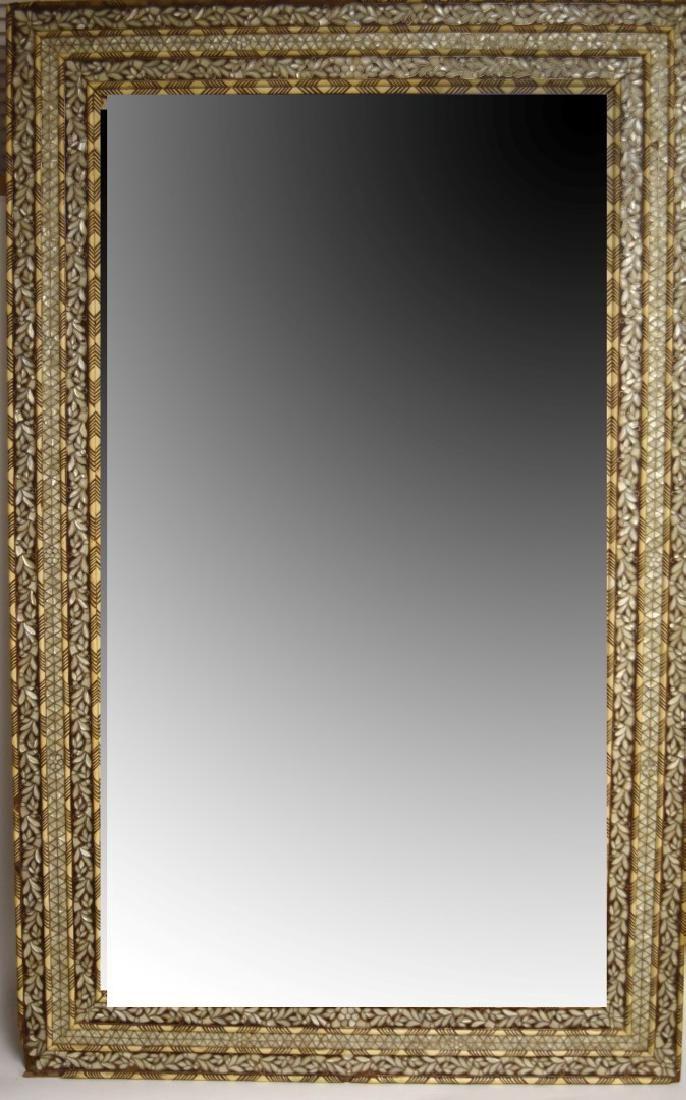 19thC. Turkish Ottoman Inlaid Wood Mirror