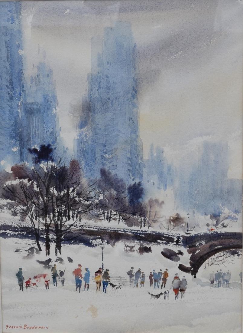 Bogomir Bogdanovic; 20thC. American Watercolor signed