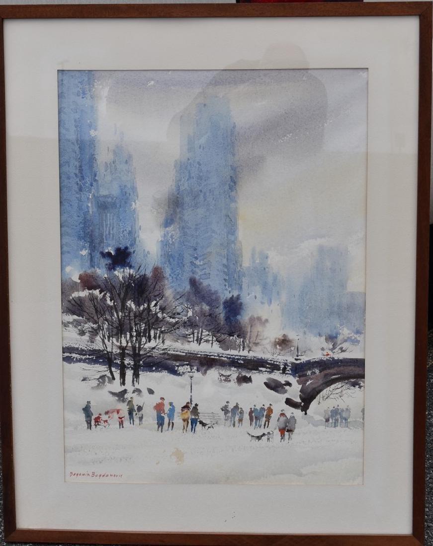 Bogomir Bogdanovic; 20thC. American Watercolor signed - 2