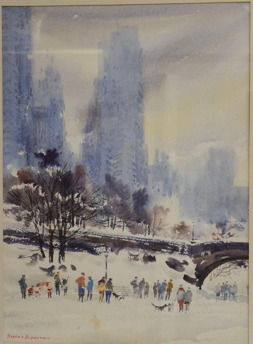 Bogomir Bogdanovic; 20thC. American Watercolor signed - 3