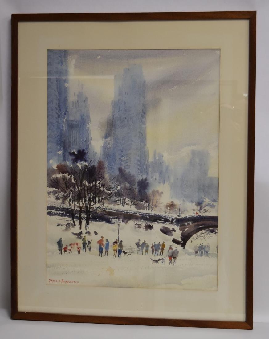 Bogomir Bogdanovic; 20thC. American Watercolor signed - 6