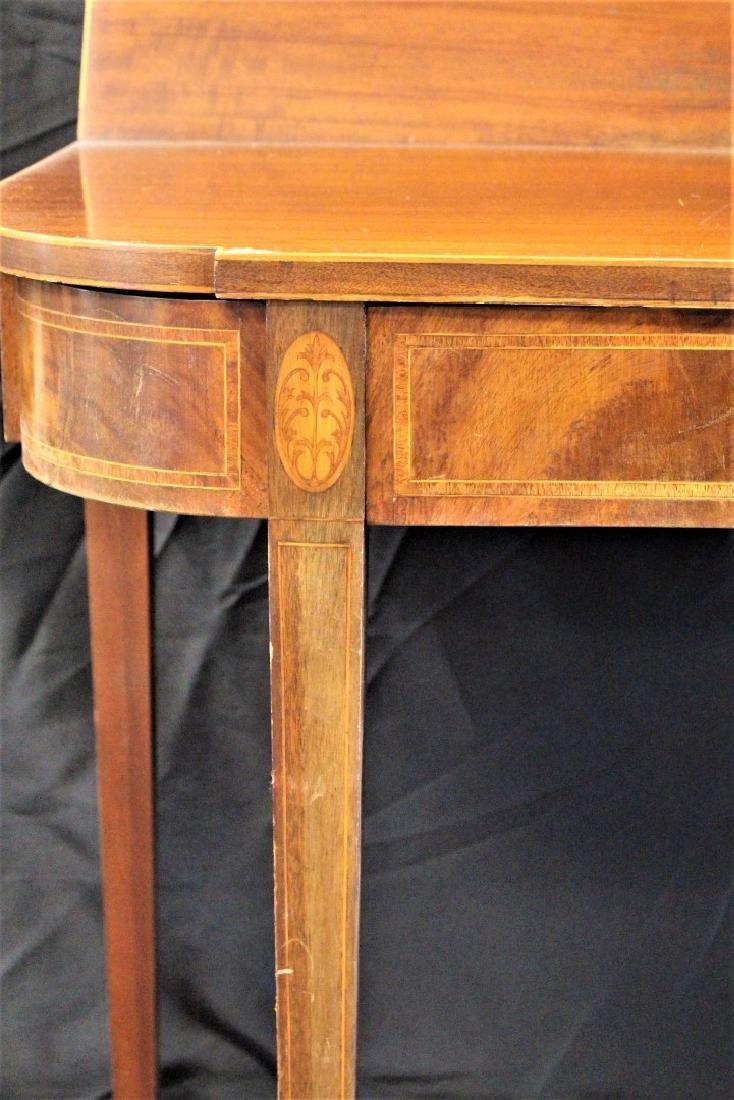 Sheraton Style Mahogany Game Table - 2