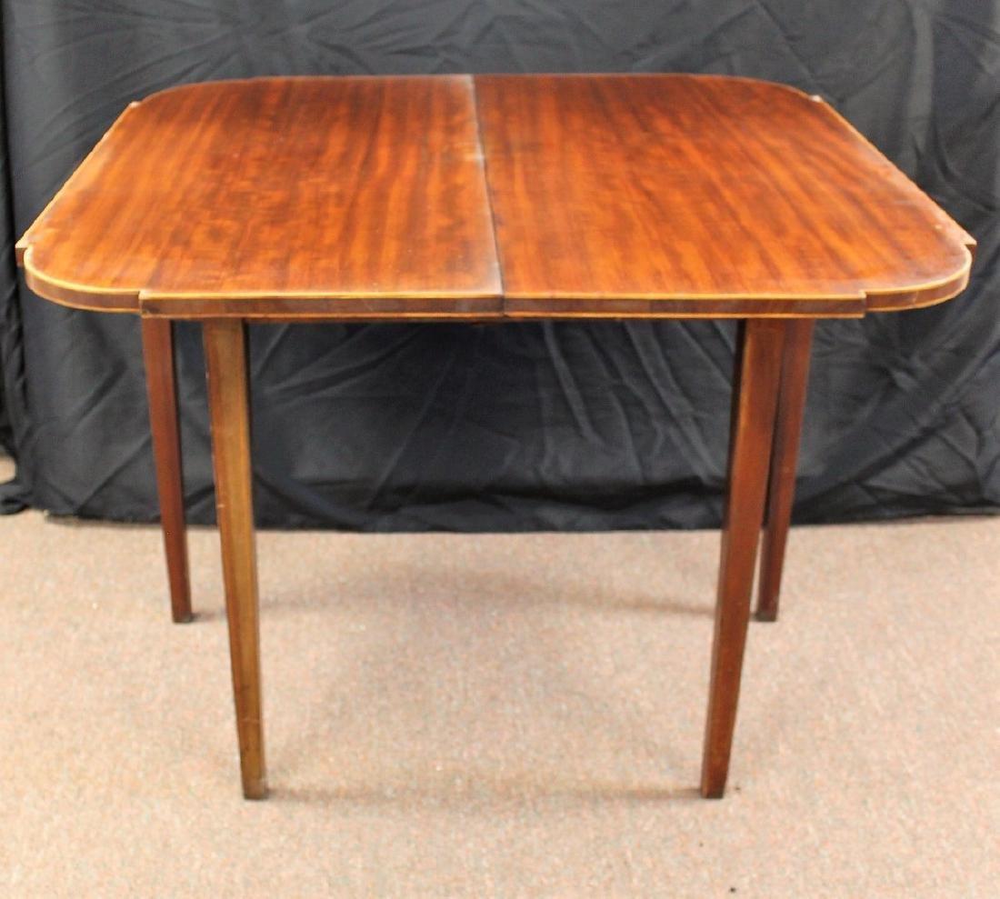 Sheraton Style Mahogany Game Table - 4