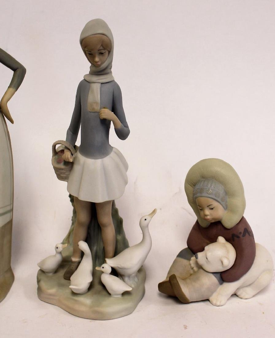 Four(4) Lladro Porcelain Figurines - 3
