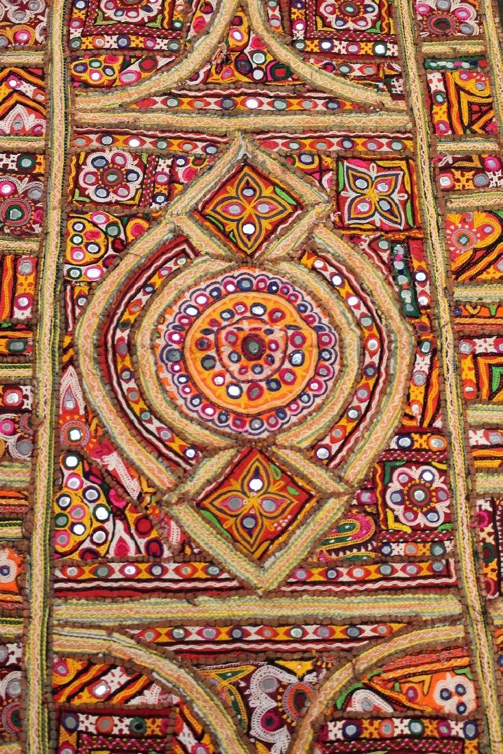 African Embroidered and Appliqued Textile - 2
