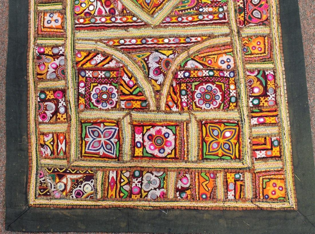 African Embroidered and Appliqued Textile - 3
