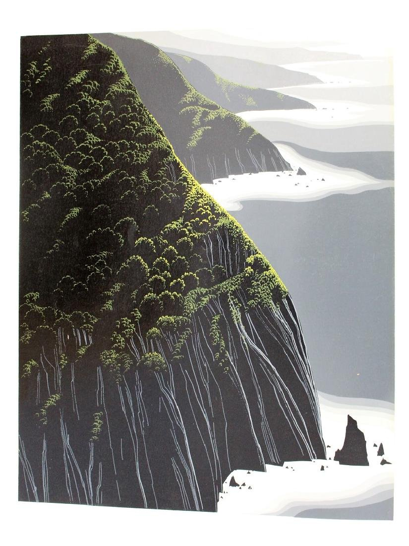 Eyvind Earle; 20thC. Serigraph - Gray Big Sur
