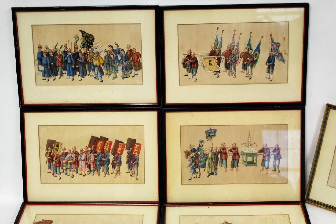 Set of Ten(10) Framed Chinese Watercolors - 2