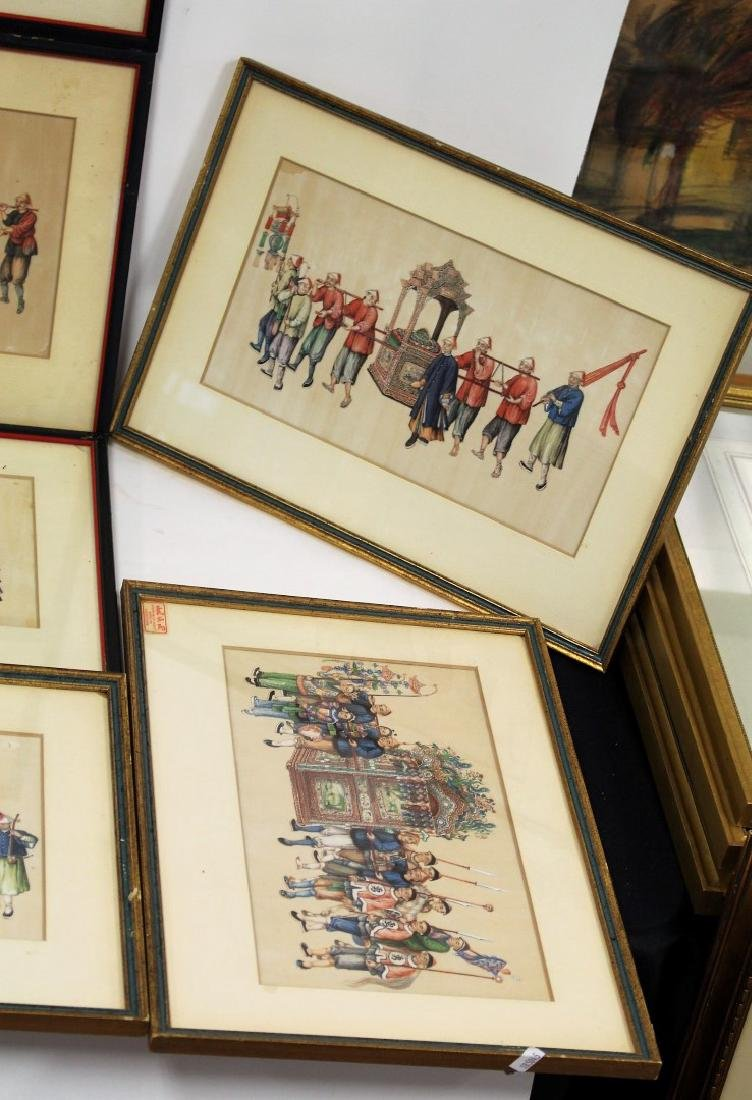 Set of Ten(10) Framed Chinese Watercolors - 3