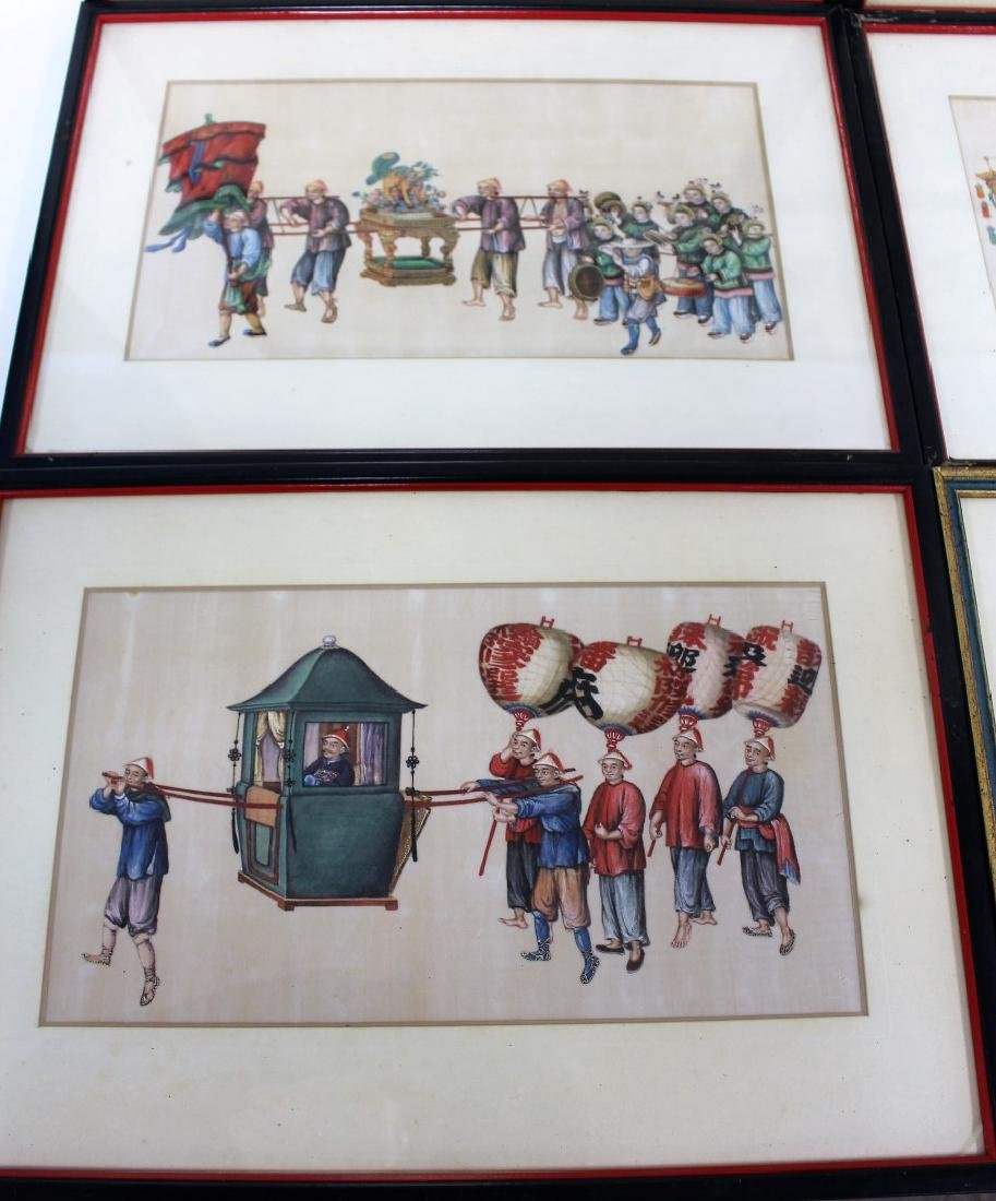 Set of Ten(10) Framed Chinese Watercolors - 4