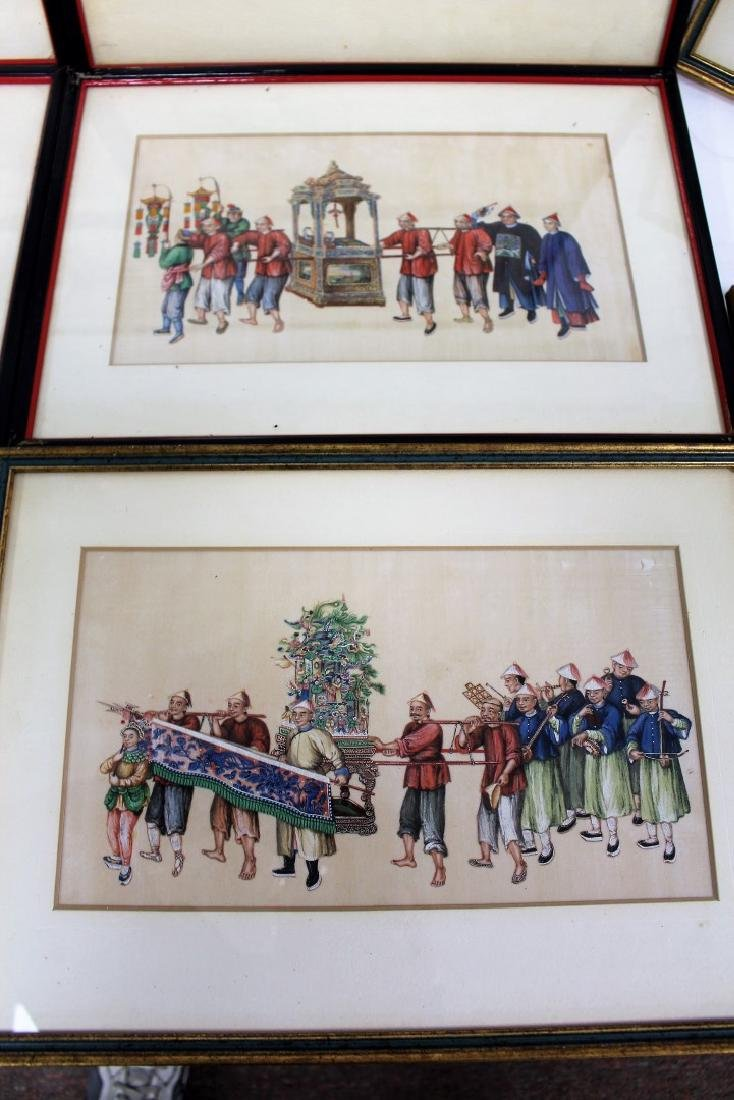 Set of Ten(10) Framed Chinese Watercolors - 5