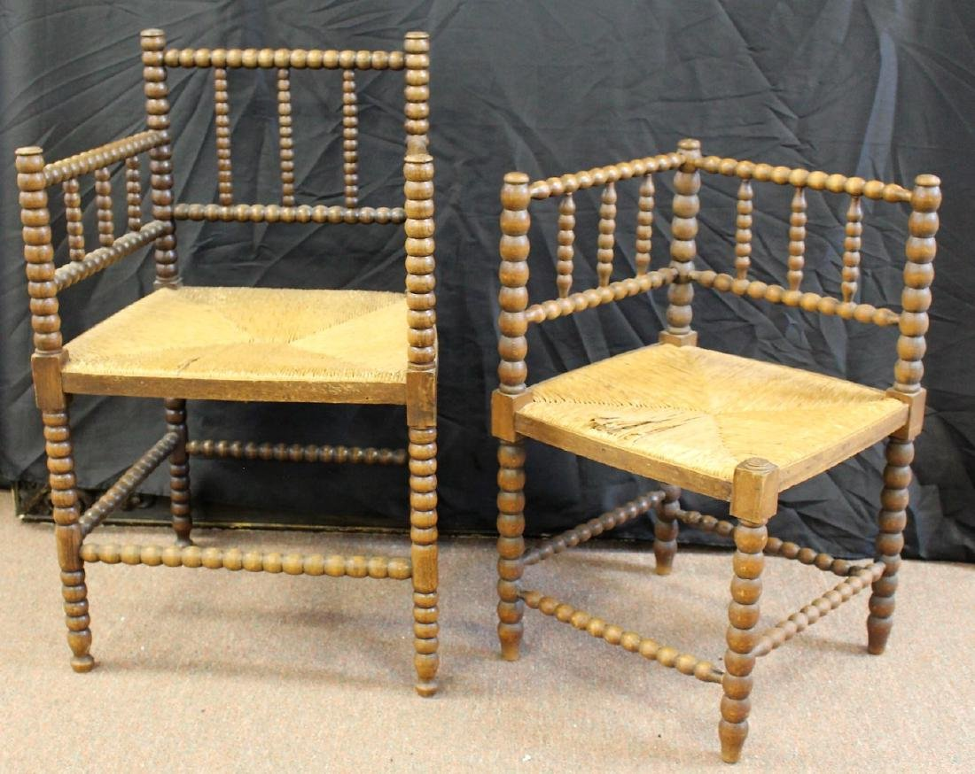 Two(2) Early Dutch Wood Chairs