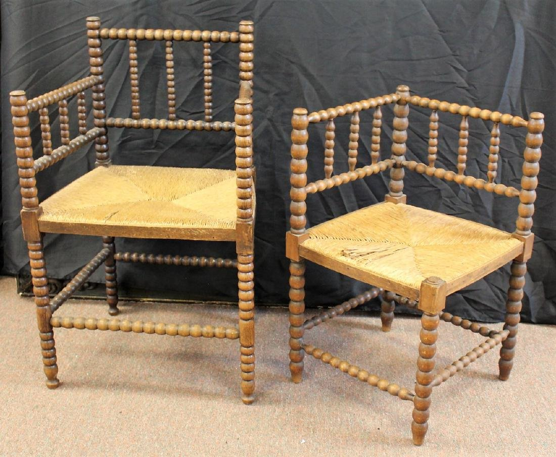 Two(2) Early Dutch Wood Chairs - 2