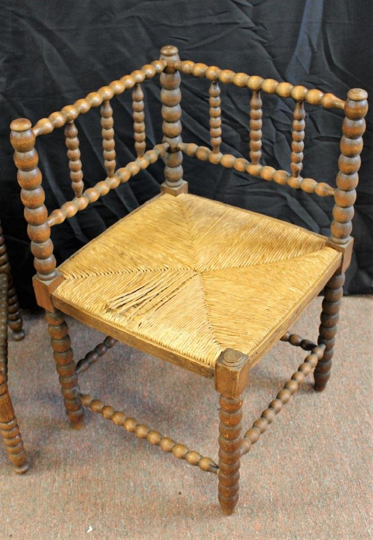 Two(2) Early Dutch Wood Chairs - 4