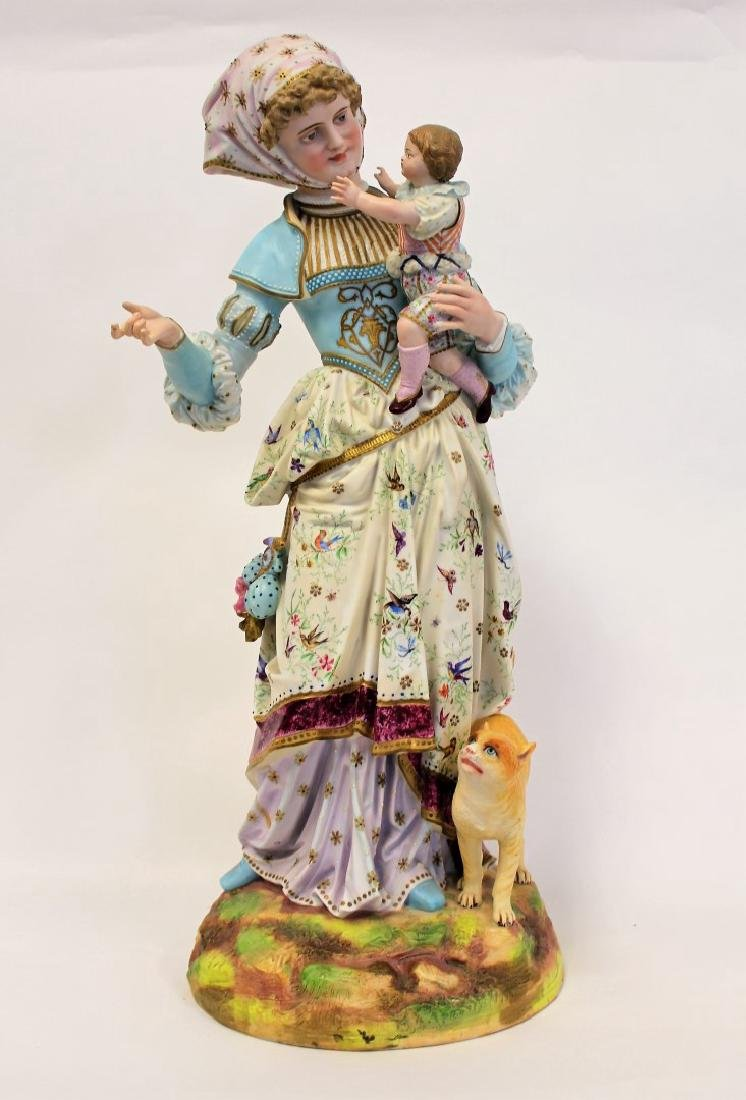 Bisque Porcelain Figural Grouping