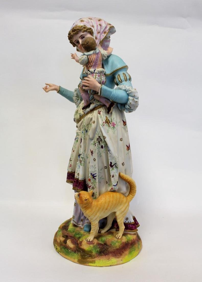 Bisque Porcelain Figural Grouping - 4