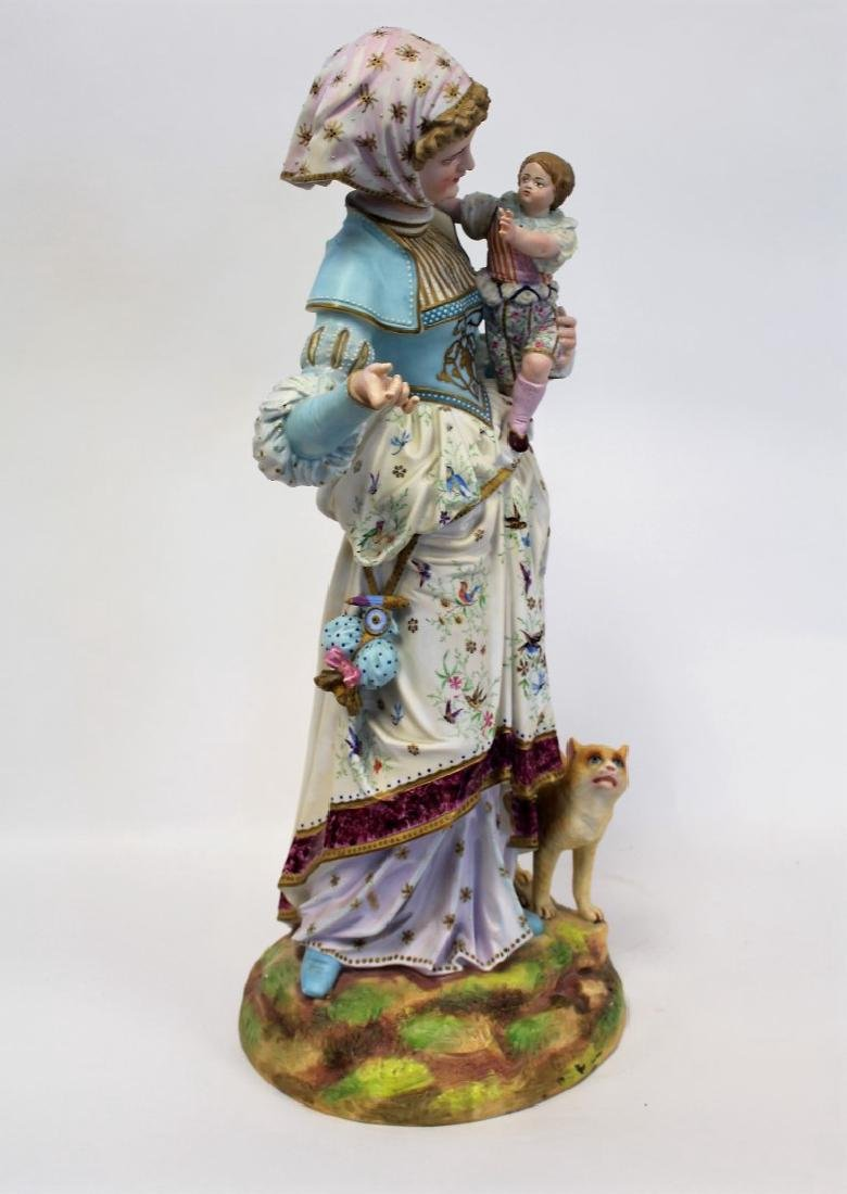 Bisque Porcelain Figural Grouping - 6