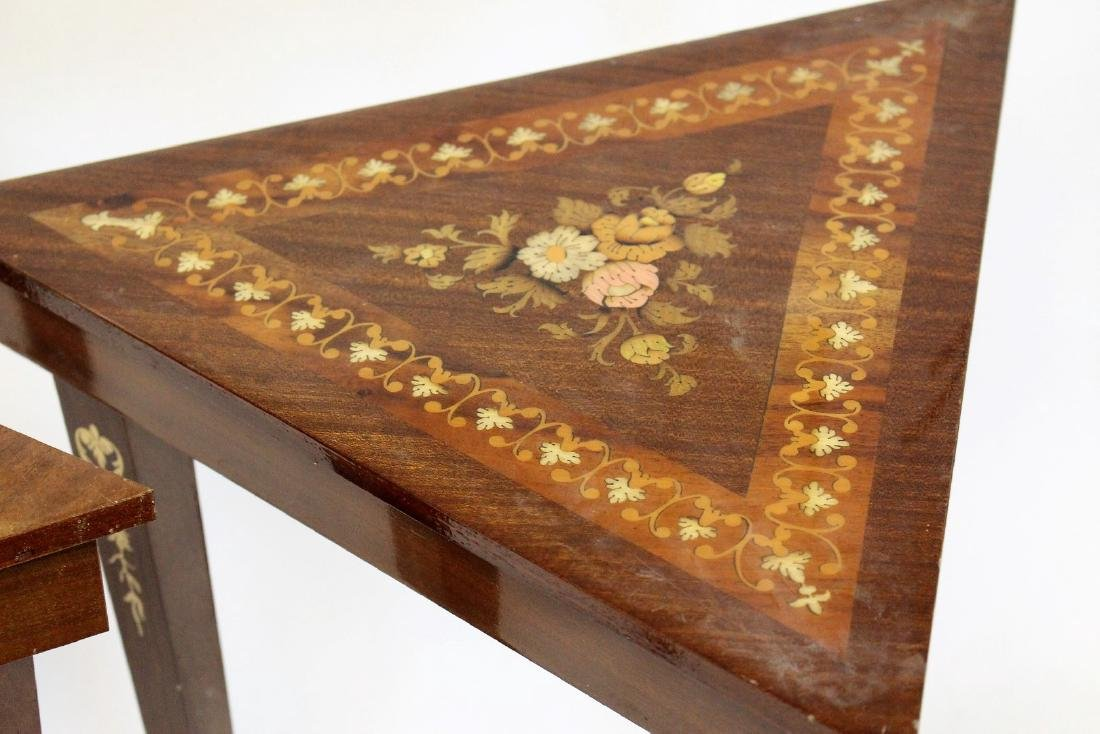 Pair of Inlaid Wood Musical Stands - 3