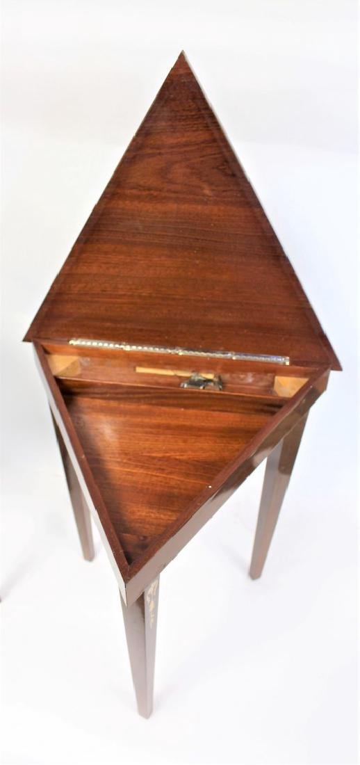 Pair of Inlaid Wood Musical Stands - 5