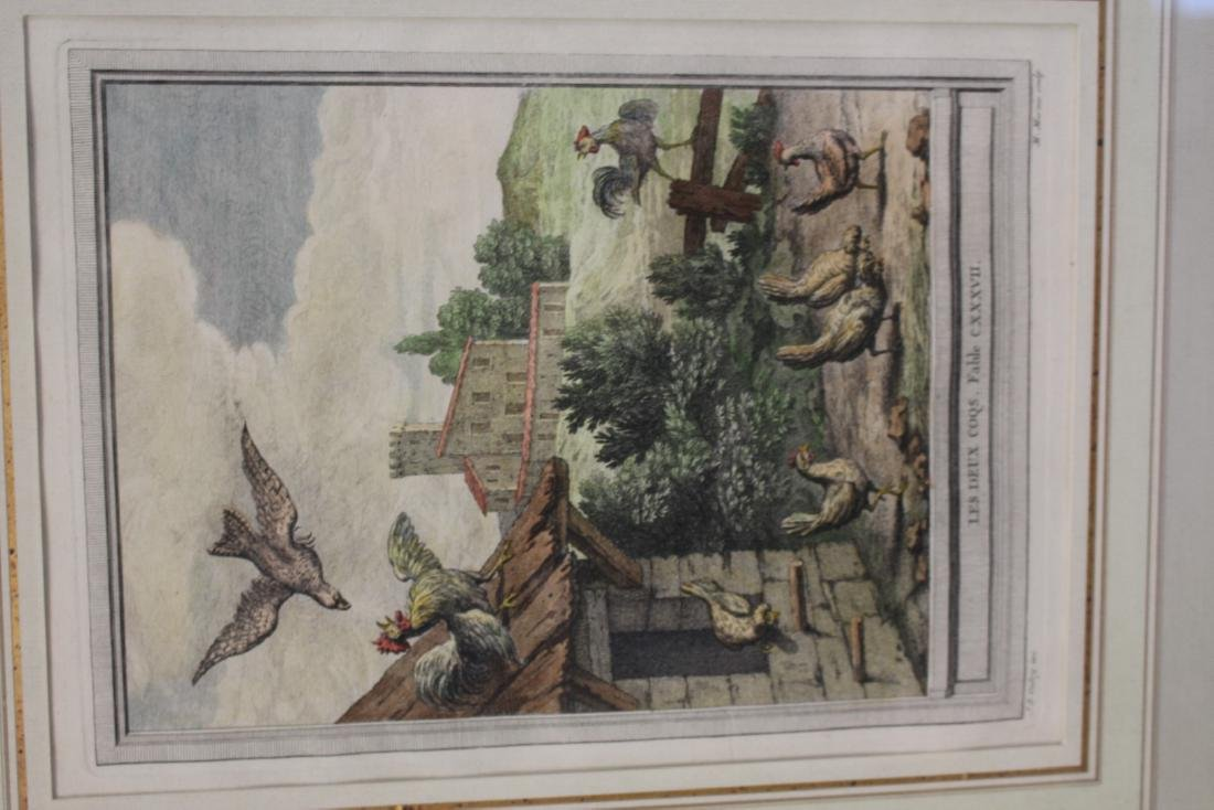 Set of Four(4) Hand Colored Engravings - 3