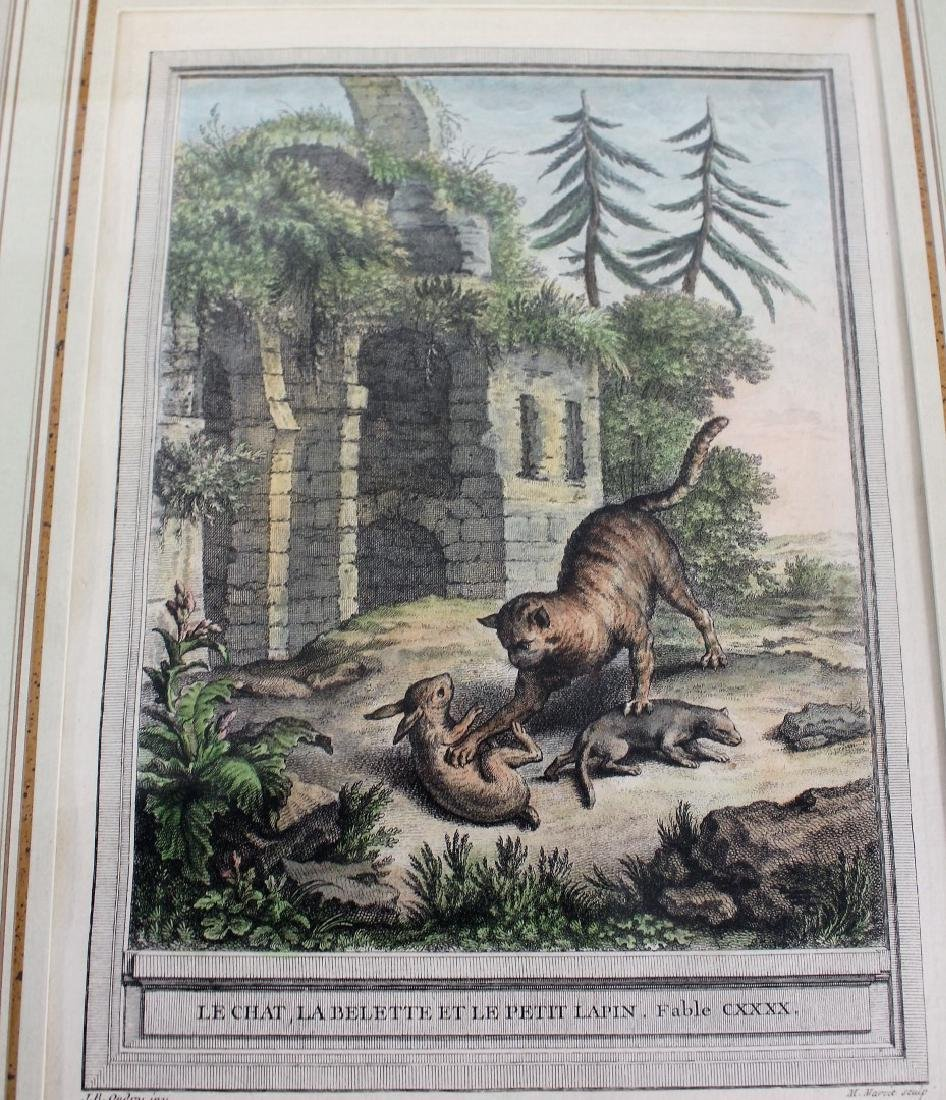 Set of Four(4) Hand Colored Engravings - 4