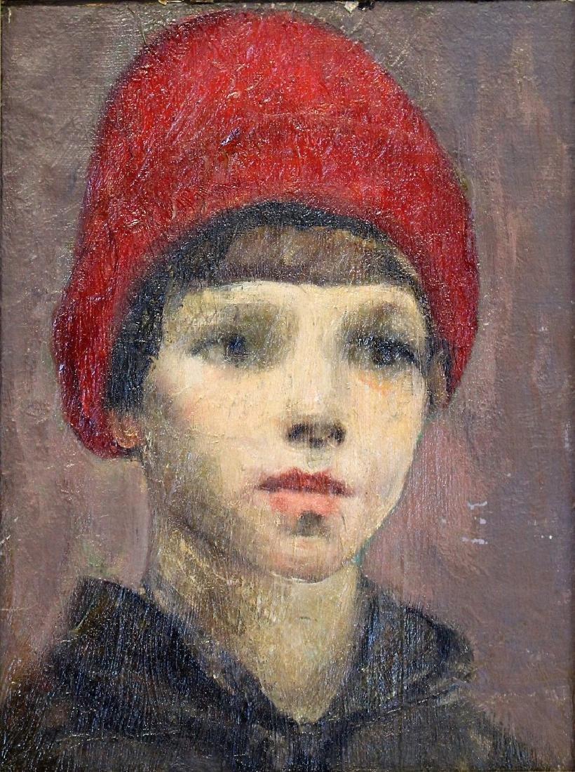 Michele Cafarelli; Italian Oil Portrait of a Boy