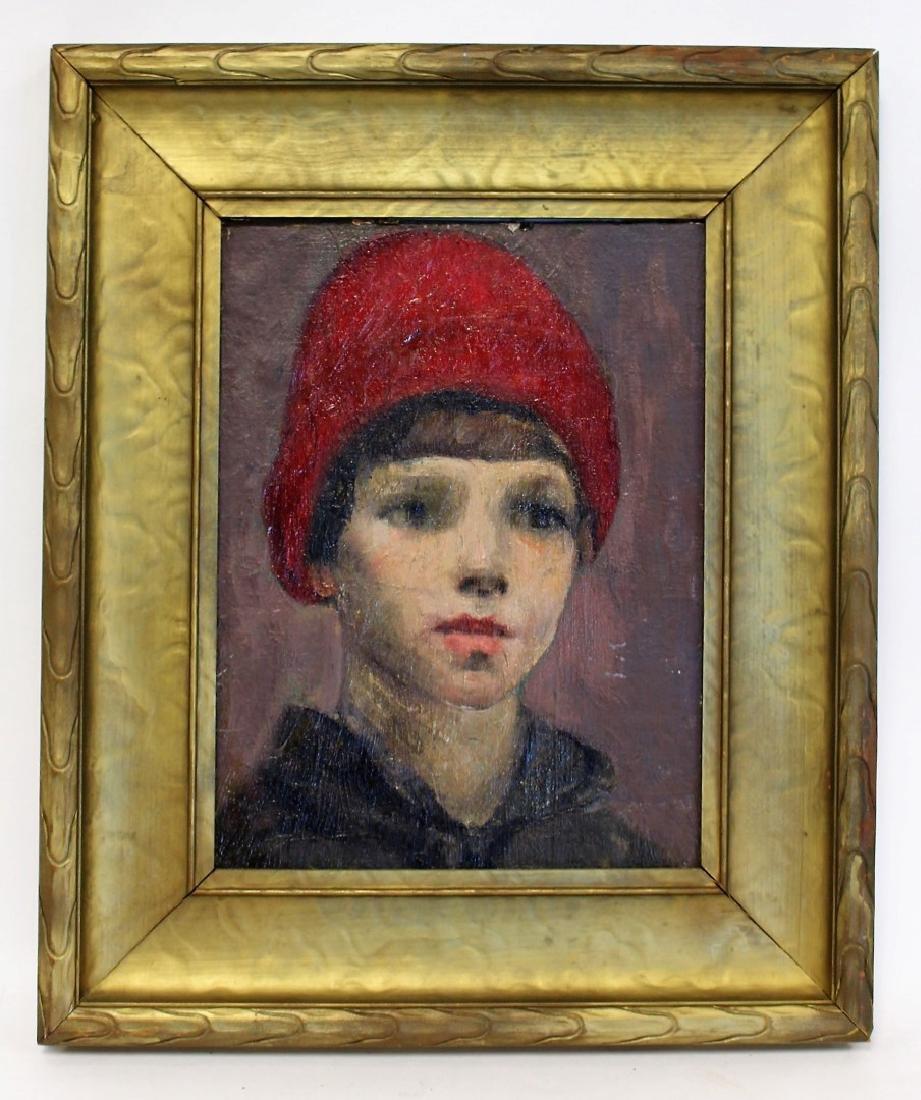 Michele Cafarelli; Italian Oil Portrait of a Boy - 2