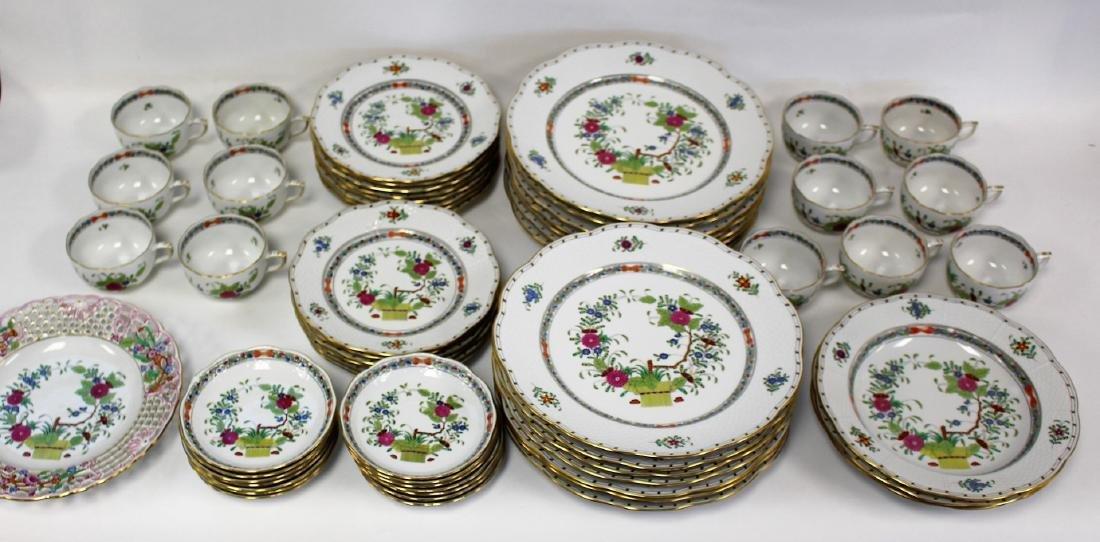 Set of Herend Porcelain Dinnerware(70+)